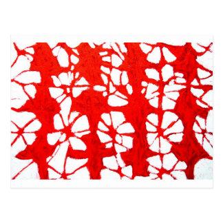 Carte Postale Propagation rouge (tachism, expressionisme