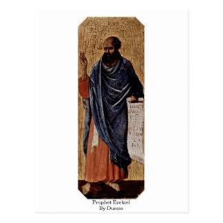 Carte Postale Prophète Ezekiel par Duccio