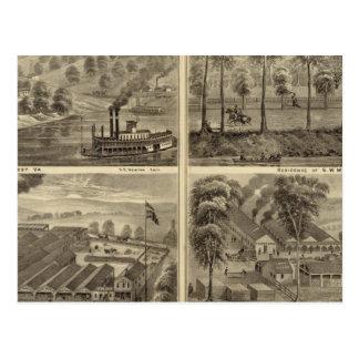 Carte Postale Propriété du charbon et du sel de ville de