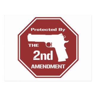 Carte Postale Protégé par le deuxième amendement .png (rouge)