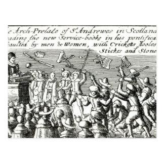 Carte Postale Protestataires à Edimbourg, 1637