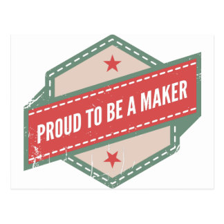 Carte Postale Proud to be a Maker vintage logo