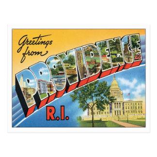 Carte Postale Providence vintage Île de Rhode