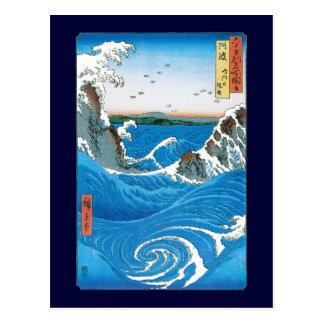 Carte Postale Province d'Awa, tourbillons de Naruto par Ando
