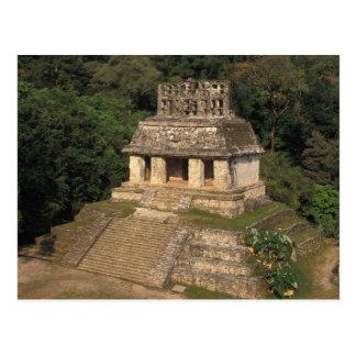 Carte Postale Province du Mexique, Chiapas, Palenque, temple de