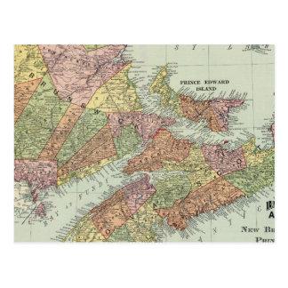 Carte Postale Provinces maritimes du Canada
