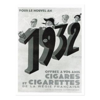 Carte Postale Publicité, cigares, cigarettes
