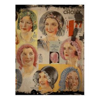 Carte Postale Publicité de casquette d'années '20 d'hurlement