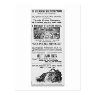 Carte Postale Publicité de cirque de grande Londres