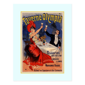 Carte Postale Publicité de Jules Chéret, 1890
