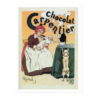 Carte Postale Publicité française célèbre de cacao de cru