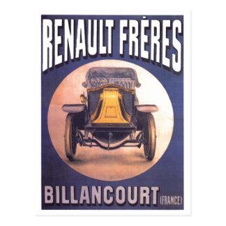 Carte Postale Publicité française d'automobile de Renault Freres