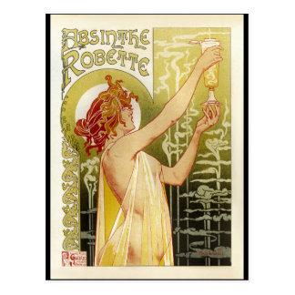 Carte Postale Publicité française vintage d'absinthe
