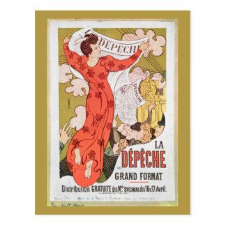Carte Postale Publicité par affichage 'La Depeche de Toulouse'