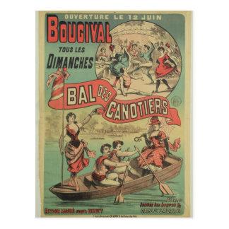 Carte Postale Publicité par affichage 'Le Bal des Canotiers