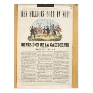 Carte Postale Publicité par affichage les mines d'or en