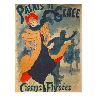 Carte Postale Publicité par affichage Palais de Glace