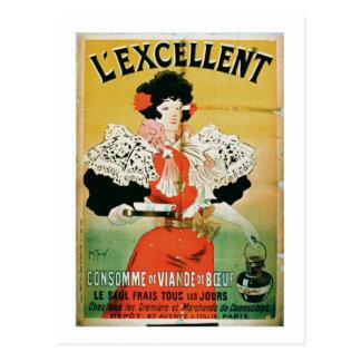 """Carte Postale Publicité pour """"le consommé de boeuf de"""