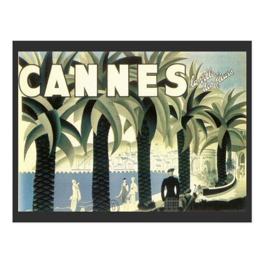 Carte Postale Publicité vintage de voyage de Cannes