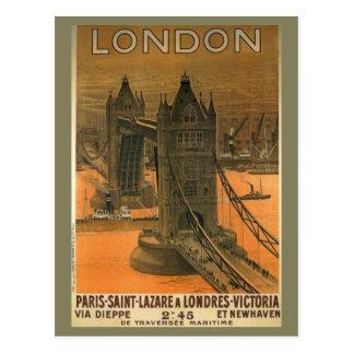 Carte Postale Publicité vintage de voyage de chemin de fer de
