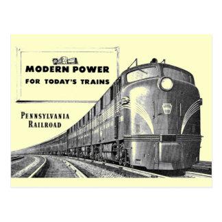 Carte Postale Puissance moderne de train de chemin de fer de la