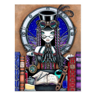 Carte postale punk de féerie de vapeur de Victoria