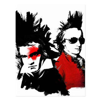 Carte Postale Punk de Mozart Beethoven