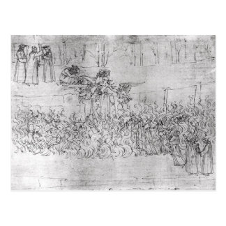 """Carte Postale Purgatoire, """"de la comédie divine"""" par Dante"""
