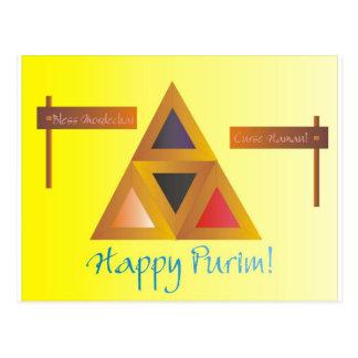Carte Postale Purim Hamantaschen