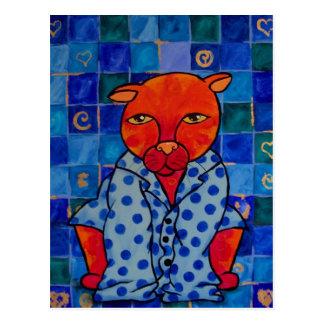 Carte Postale Pyjamas de chats