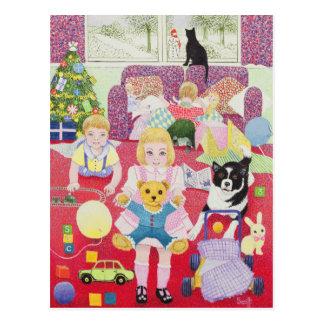 Carte Postale Pyjamas de Noël du nounours