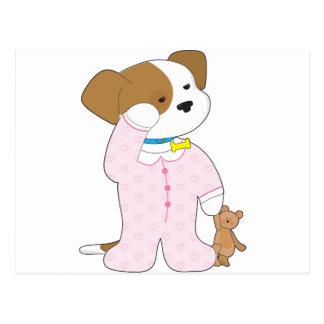 Carte Postale Pyjamas mignons de chiot