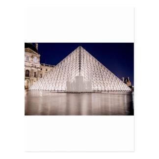 Carte Postale pyramide d'auvent France Paris la nuit