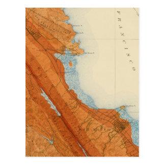 Carte Postale Quadrilatère de San Mateo montrant l'intensité,
