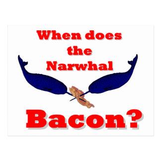 Carte Postale Quand fait-il le lard de Narwhal ?
