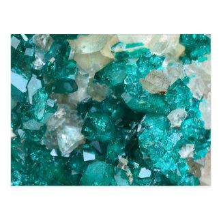 Carte Postale Quartz turquoise de sucre candi