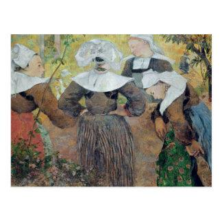 Carte Postale Quatre femmes bretonnes, 1886