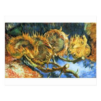 Carte Postale Quatre tournesols coupés - Vincent van Gogh