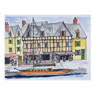 Carte Postale Quay Franklin, Saint-Goustan | Auray, la Bretagne