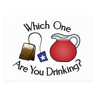Carte Postale Que buvez-vous ?