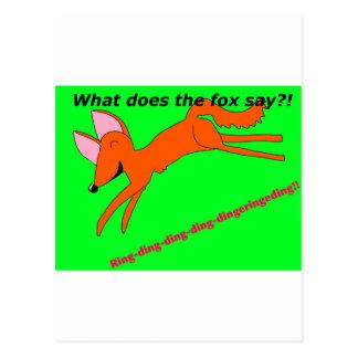 Carte Postale Que le renard fait-il disent-ils ?