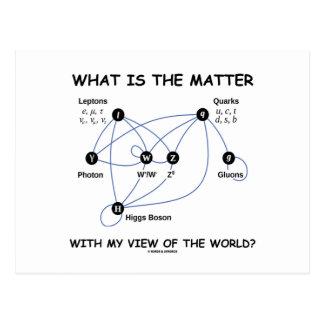 Carte Postale Quel est le problème avec ma vue du monde ?