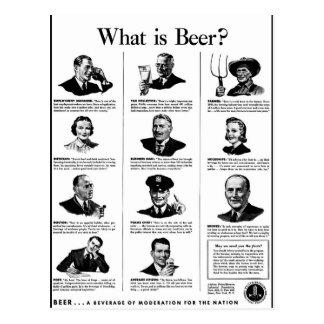 Carte Postale Quelle est bière ?