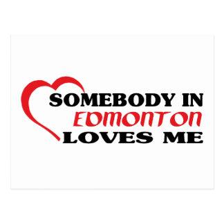 Carte Postale Quelqu'un à Edmonton m'aime