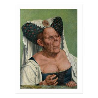 Carte Postale Quentin Massys - dame âgée grotesque, 1515