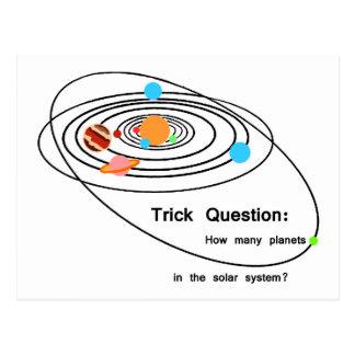 Carte Postale Question de tour de planètes de Pluton