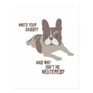 Carte Postale Qui est votre papa ?