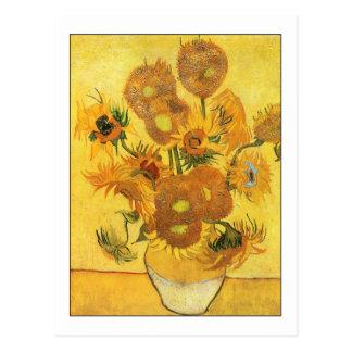 Carte Postale Quinze tournesols par Van Gogh