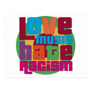 Carte Postale Racisme de haine de musique d'amour