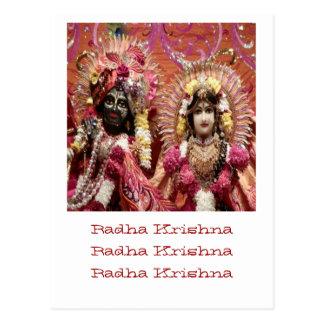 Carte Postale Radha KRISHNA pour l'amour, prospérité de la paix